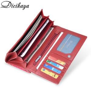 Image 4 - DICIHAYA Exclusive Design Leather Women Wallet Luxury Brand Design High Quality Women Purse Card Holder Long Clutch Phone Bag