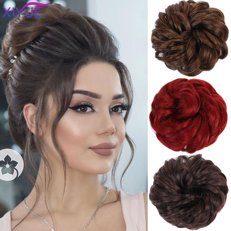 False Hair Extensions Wavy Curly Messy Hair Bun Extensions Donut Hair Chignons Hairpieces Wig Hairpiece Headwear For Ponytail