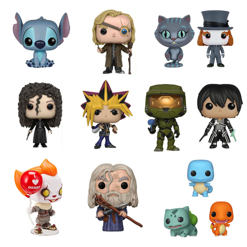 Stich Harry Gandalf Squirtle Halo Chesur Pennywise Strange Things Rick Morty Yami Yugi Figure Model Toys