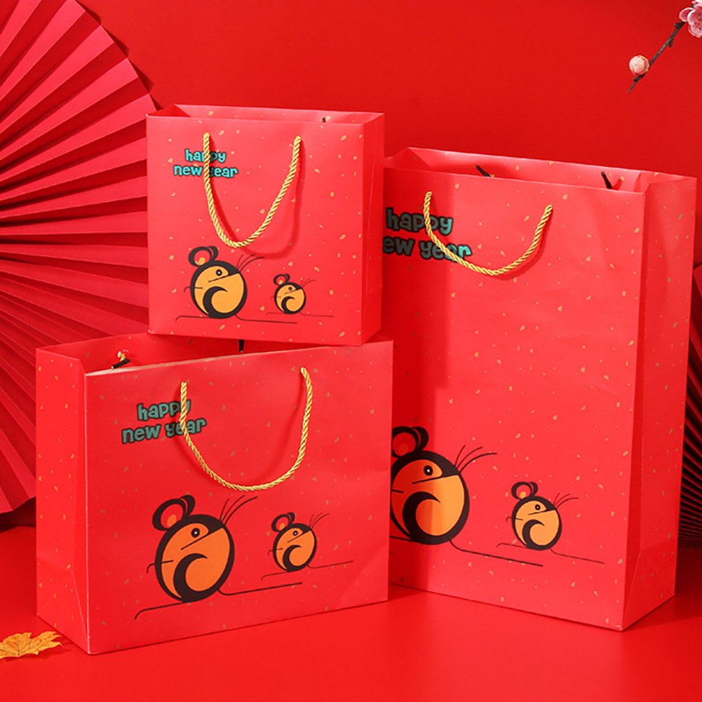 2020 Christmas Party 30-90Pcs Small Boxs Xmas Fruit Candy Treat Paper Bags