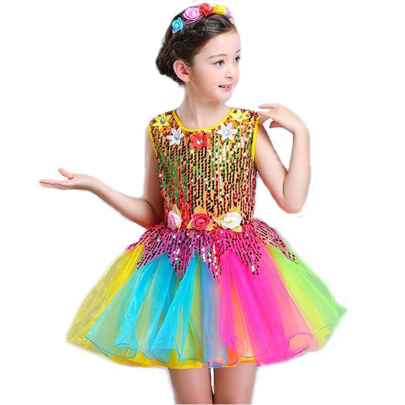 Girls Ballet Dress For Children Girl Dance Dress Kids Sequins Ballet Costumes For Girls Tutu Dance Girl Stage Dancewear For Boy