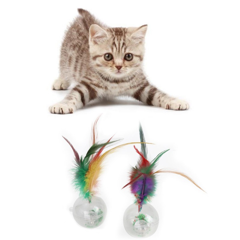 USB Rechargeable Electric Rolling Ball Toys For Cats Interactive Flashing Magic Ball Toy Light Pet Chasing