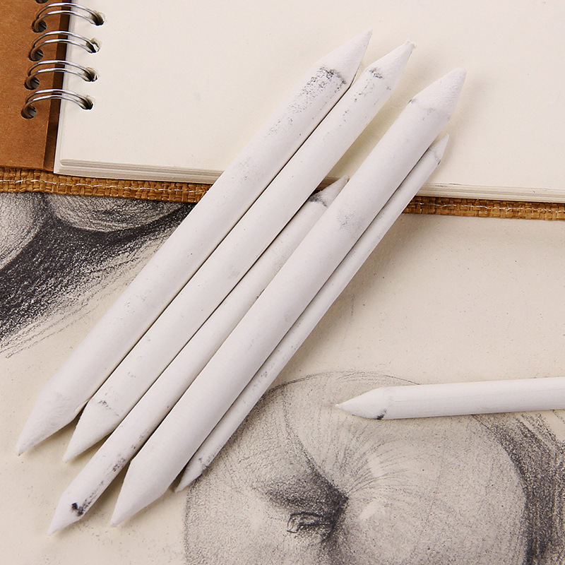 6pcs/set Blending Smudge Stump Stick Tortillon Sketch Art White Drawing Pen Tool Rice Paper Painting pens image
