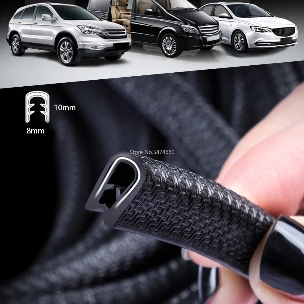 10M Universal Car Door Edge Scratch Protector Sealing Strip Guard Trim Automobile Door Stickers Decoration Protector Accessories