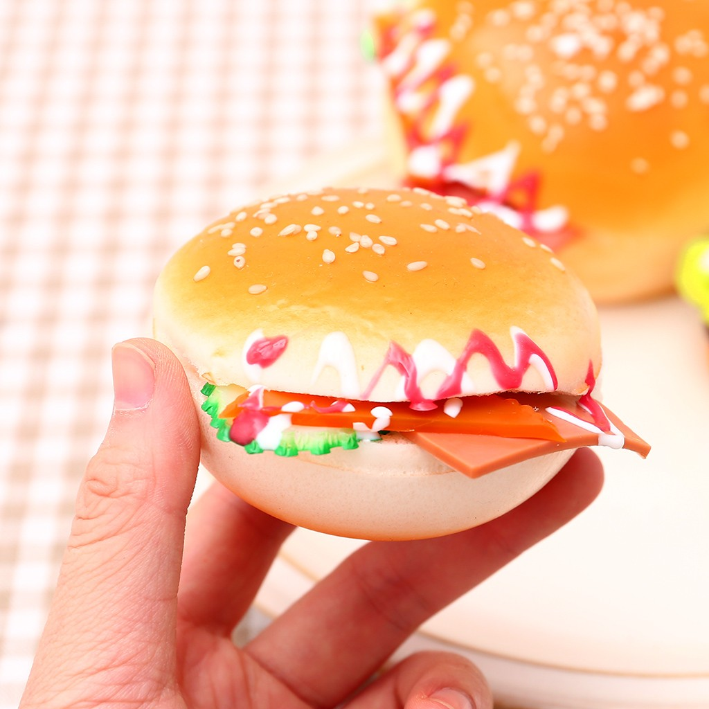 Simulation Burger Scented Charm Slow Rising Collection Stress Reliever Toys Children's Creative Fun Toys Boy Girls Gift