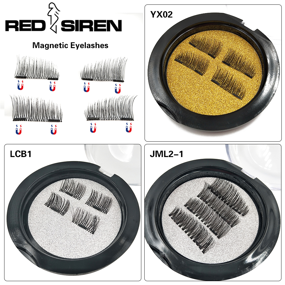 RED SIREN Magnetic Eyelashes Natural Eyelash Extension 1/2/3 Magnets Reusable 3D Magnetic Fake Eye Lashes Makeup False Eyelashes