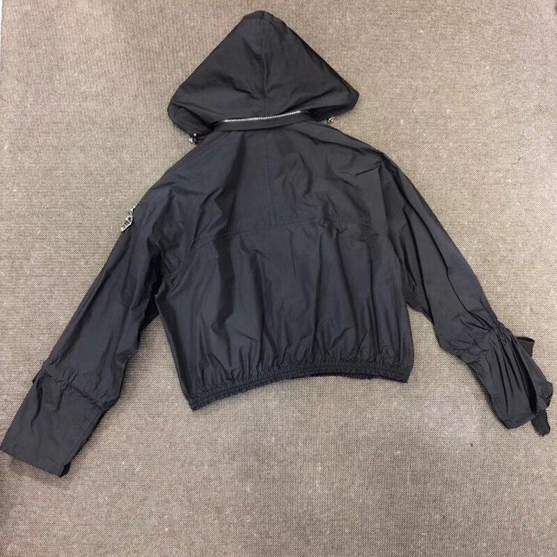Schwarz Jacke Für Frauen Casual Langarm Dame Mit Kapuze Jacke Mantel 2019 Frauen Neue Zipper Jacke-in Basic Jacken aus Damenbekleidung bei  Gruppe 2