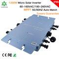 Micro Inversor de conexión a red Solar de onda sinusoidal pura Micro Inversor de 1200W IP65 de Brasil/España/EE. UU. 22-50VDC a 80-160VAC
