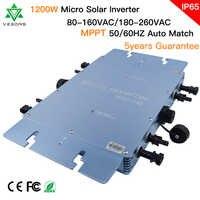 Ship From Brazil/Spain/USA 1200W IP65 Microinverter Solar Grid Tie Inverter Pure Sine Wave Micro Inversor 22-50VDC to 80-160VAC