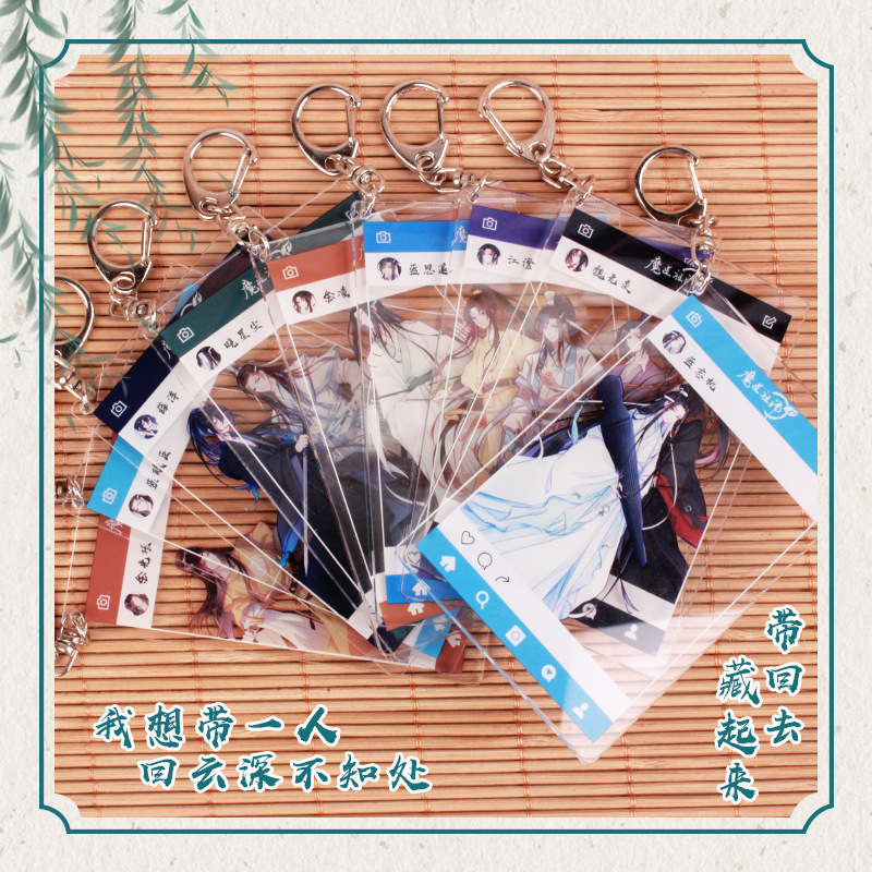 Anime Keychain Grandmaster Of Demonic Cultivation Tian Guan Ci Fu FATE My Hero Academia Mo Dao Zu Shi Cartoon Acrylic Key Chain