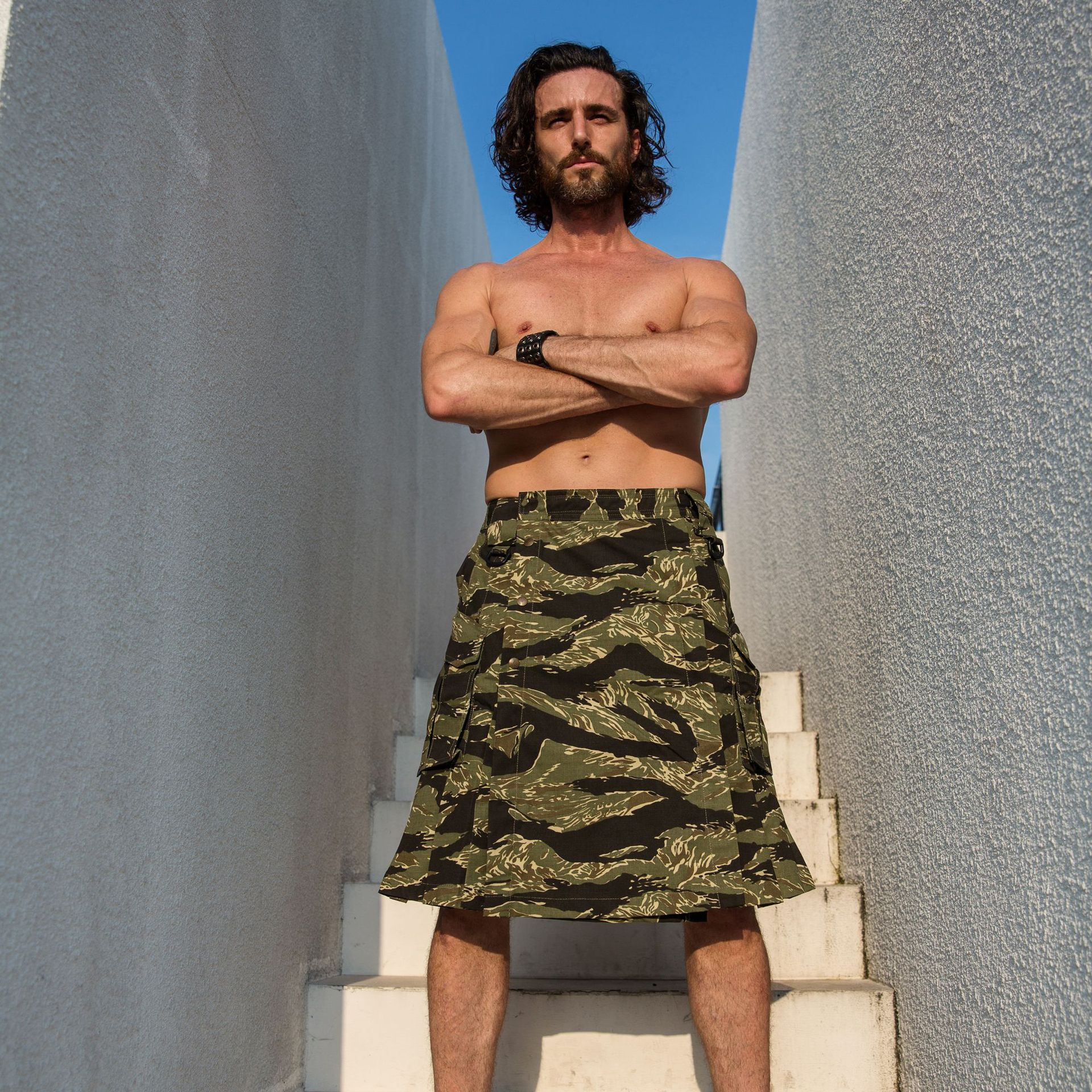 Warchief/Chief Camouflage Scottish Kilt Army Fans Scotland Tactical Skirt Men's Outdoor Camouflage Suit