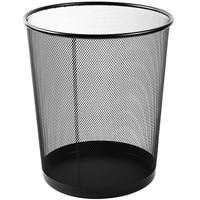 Schwarz Metall Mesh Große Mülleimer Abfall Papier Eisen Mesh Reinigung Mülleimer|Abfallbehälter|   -