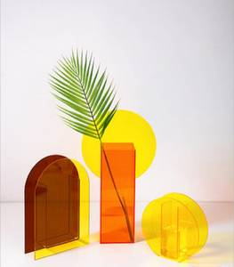Glass Vase Christmas-Decorations Acrylic Home Brand-New Magic-Geometry Fafafun for Sunlight