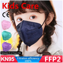 1-200PCS Kids FFP2 Mascarillas CE Mask Black KN95 Mask Child Face Mask KN95 Filter Respirator Children KN95 filter ffp2mask Mask