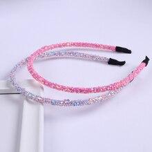 XIMA 1 шт. шикарные блестящие повязки для волос модные женские супер блестящие повязки ручной работы металлические повязки для волос аксессуары