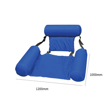 Summer Inflatable Foldable Floating Row Beach Swimming Pool Water Hammock Floating Beach Chair Lounger Mat Seatings 6