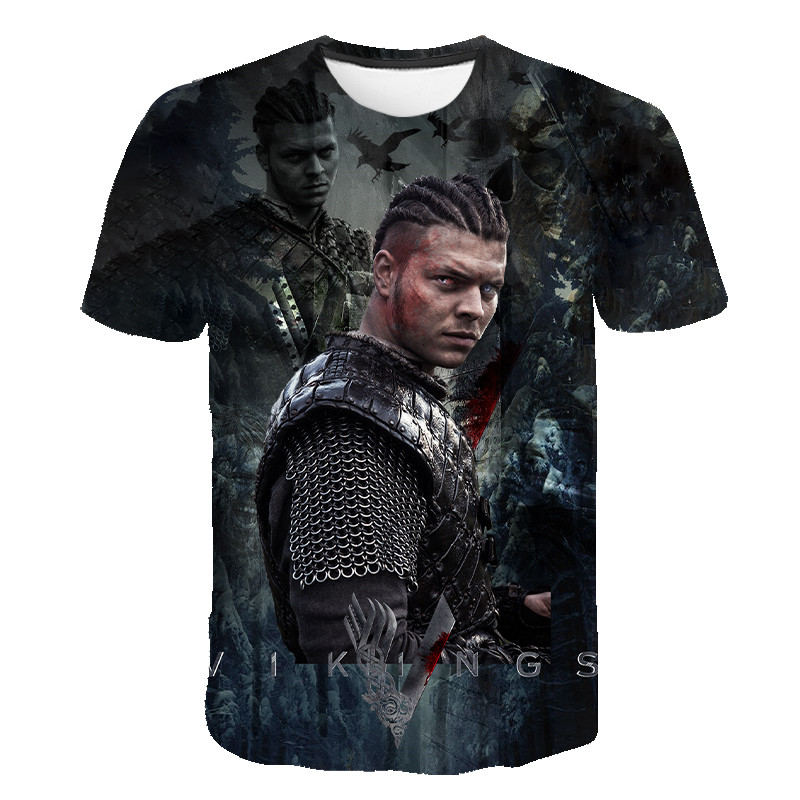 Vikings T Shirt Summer Men Women Children Ragnar Lothbrok 3D Printed TV Short Sleeve T-Shirt Kids Tops Fashion Casual Tees