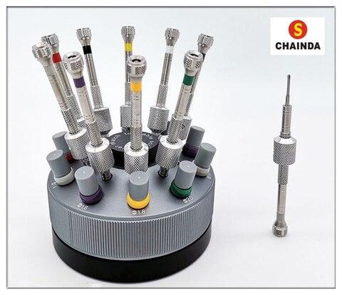 Chave de Fenda a Precisão do Aço Variedade de 10 Conjunto com 30 Inoxidável Assistir Reparação Dicas Peças Pcs Mod. 128853