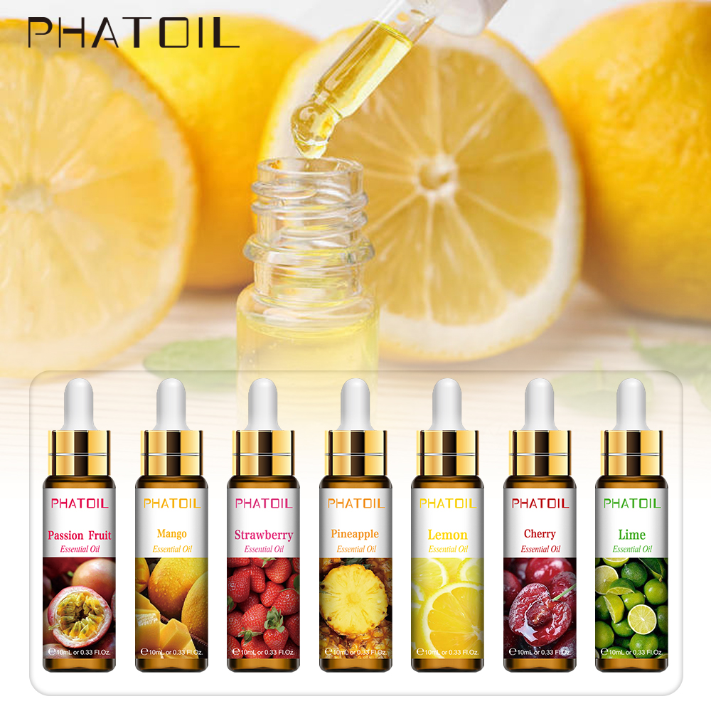 10ml with Dropper Pure Fruit Fragrance Essential Oil Diffuser Strawberry Mango Musk Banana Coconut Aroma for Candle Soap Making-1