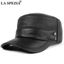 Мужская кепка в стиле милитари la spezia черная Регулируемая
