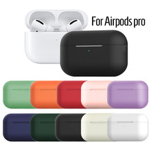 Silicone Case For Apple Airpods pro TWS wireless Bluetooth Earphone soft Protective Cover For Airpods pro case Shockproof Cases(China)