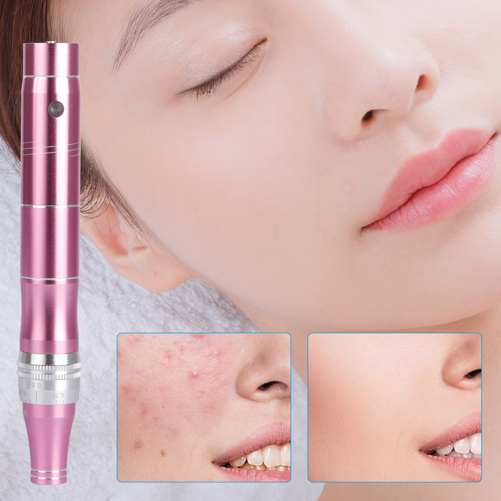 Electric Micro Needle Beauty Apparatus Stimulate Skin Tightening Remove Scar Reduce Wrinkles Micro Tiny Needles Mesotherapy