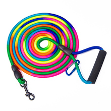 Rainbow 3m 5m 10m Long Dog Leash small Large Puppy Dog Leash Recall Training Tracking Obedience pet Lead Mountain Climbing Rope