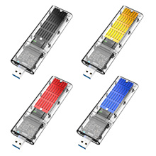 M.2 SSD Enclosure Acrylic Transparent USB3.0 High-speed Excellent Adapter For SATA-based M.2(NGFF SSD 2242 2260 2280mm)