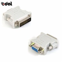 New Easy To Use DVI DVI-I Male 24+5 Pin to VGA Female Video Converter Adapter M/F LCD HDTV HQ(China)