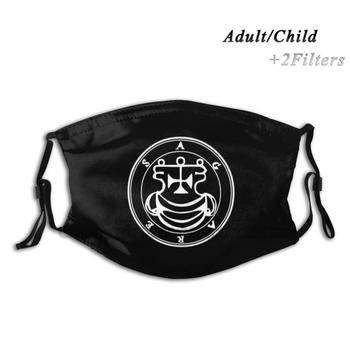 Agares Seal / Sigil Reusable Mouth Face Mask With Filters Kids Occult Demon Goetia Sigil Seal Demonology Demonolarty Satan image