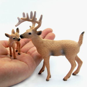 Simulation Animal Model Figure Plastic Decoration Educational Toy Deer Figurine Kids Gift Miniature Forest Animal Zoo Statue