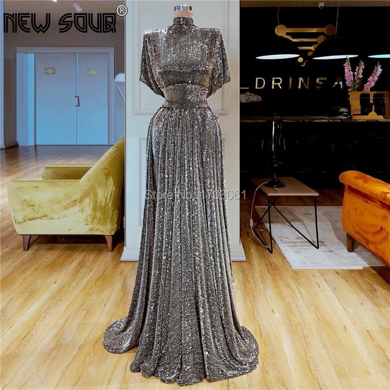 Arabic Dubai Latest Design   Evening     Dresses   2019 Robe De Soiree Kaftans Custom made Prom   Dress   Middle East Long Party Gowns