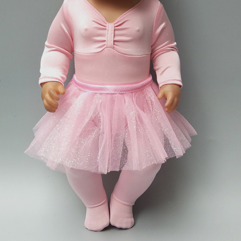 Doll Clothes For New Born Baby Dolls Dress Fits 43-45cm Girl Baby Dolls Ballet Skirt Tutu Lace Dress