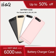 6000mAh Power Bank Silm Aluminum Battery Charger Case For Xi