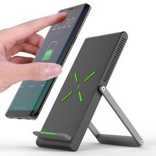 Wireless Charger Mobile Phone Holder Wireless Charging Digital Double Coil Design Foldable Vertical Fast Charge цена и фото