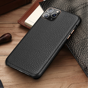 Image 2 - MYL LZP Lambskin Back Cover Case For iphone 12 11 Pro Max Genuine Leather Lichee Pattern Case For Apple iphone 12mini Phone case