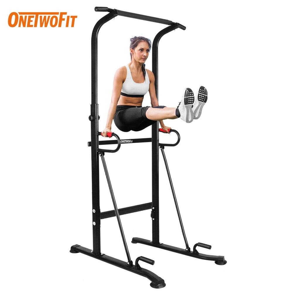 ONETWOFIT Multifuncional Pull Up Bar wieża energetyczna sprzęt do domowej siłowni przyrząd do treningu mięśni brzucha trening kryty Fitness wyposażyć Sport