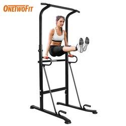 ONETWOFIT Multifunktionellen Pull Up Bar Power Tower Home Gym Ausrüstung Bauch Muskel Trainer Workout Indoor Fitness Auszustatten Sport