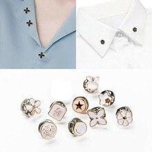 10 шт. металлические цветные круглые пуговицы для шитья одежда украшения хвостовик золотые пуговицы для одежды Рубашки материал ручной работы K30
