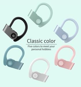 Image 2 - سماعات أذن لاسلكية للركض من Caletop TWS سماعات أذن رياضية مزودة بتقنية البلوتوث مع ميكروفون وسماعات أذن مزودة بخاصية ربط للأذن وإلغاء الضوضاء