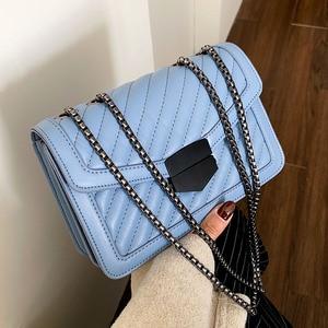 Image 2 - جودة خمر لينة بولي Leather جلد المرأة حقائب الكتف Crossbody 2020 حقيبة يد الموضة مخلب السيدات حقيبة ساعي محفظة الإناث