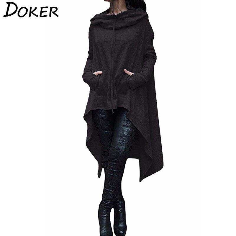 Autumn Winter Long Hoodies Sweatshirts Women Plus Size Loose Long Sleeve Hooded Sweatshirt Female Casual Pullover Hoodie