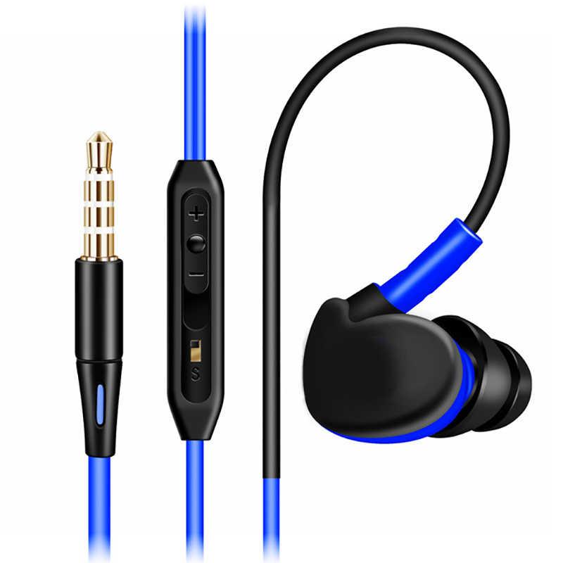 Sport auricolari ear-gancio portatile subwoofer auricolare mobile computer MP3 universale di musica di sostegno auricolare a filo con il grano