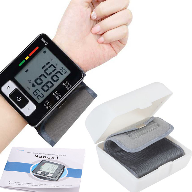 Wrist Digital BP Blood Pressure Monitor meter Automatic Sphygmomanometer Smart Medical Machine Pulse Rate Fitness Measurement