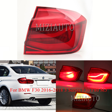 MIZIAUTO Rear Tail Light Outside For BMW F30 2016-2018 3 Series F80 M3 LED New Brake Bumper Stop Lamp