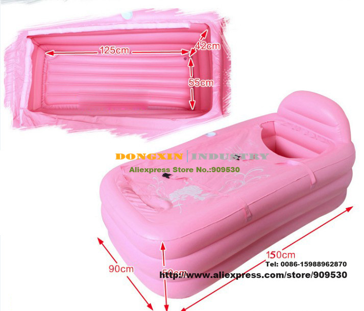 Купить с кэшбэком Wholesale&Retail Adult Spa folding Portable bathtub inflatable bath tub free shipping by DHL