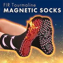 Pregnant Women Men Socks Winter FIR Tourmaline Magnetic Self Heating Unisex self-Heating Health Care Socks Magnetic Therapy 2019(China)