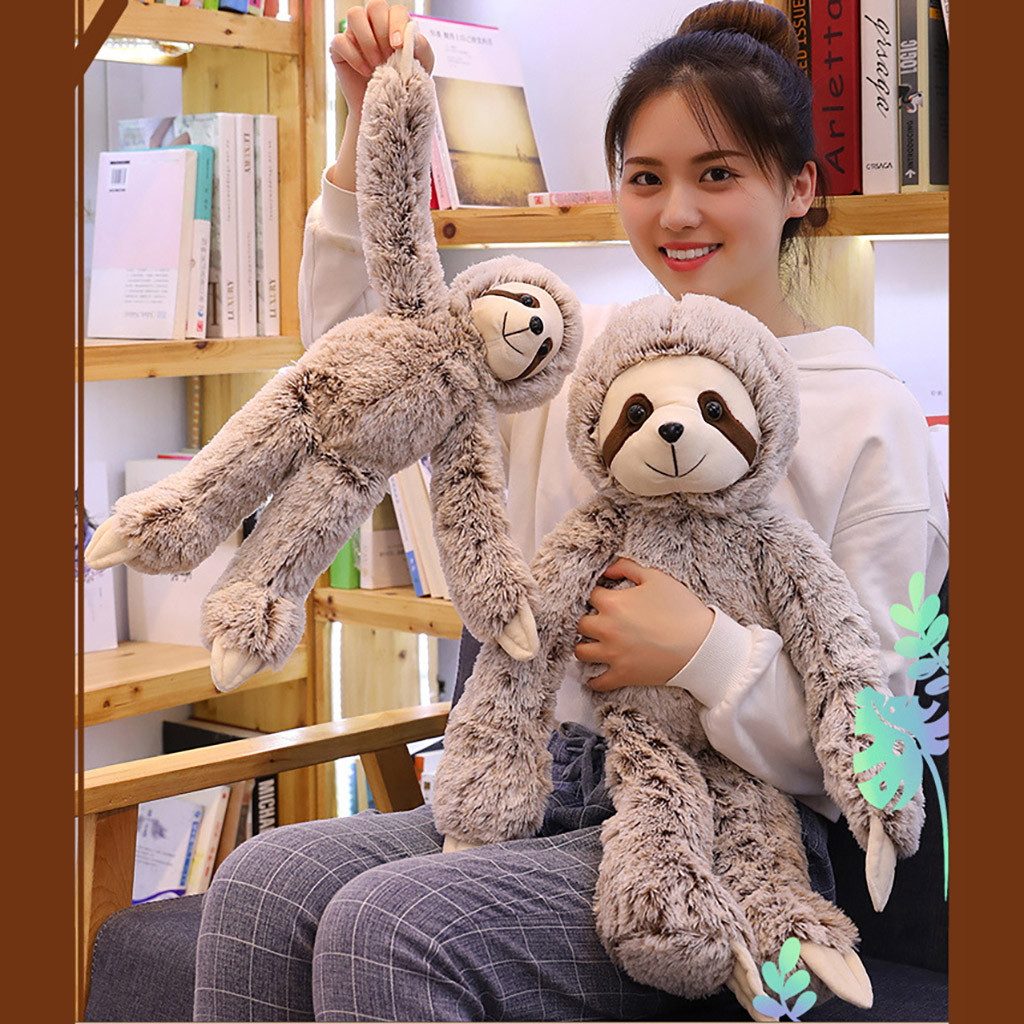 Stuffed Animal Plush Toy Sloth Ultra Soft Cute Doll Soft Toy Baby Sleeping Appease For Animal Doll Home Gifts For Kids Children