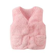 Soft Wram Baby Girls Waistcoat Velvet Sleveless Jackets For Boys Toddler Woolen Kids Vests Fall Winter Children Outerwear