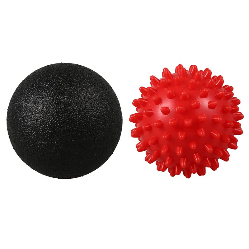 Massage Ball Set 1 Lacrosse Ball 1 Double Lacrosse Ball 1 Spiky Ball for Trigger Point Therapy Release Tight Muscles in Yoga Balls from Sports Entertainment